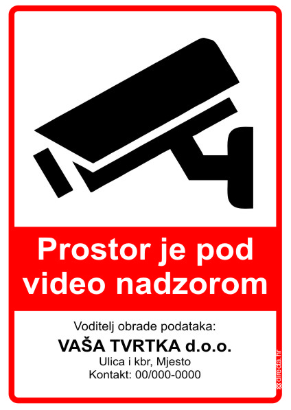 GDPR naljepnica video nadzor